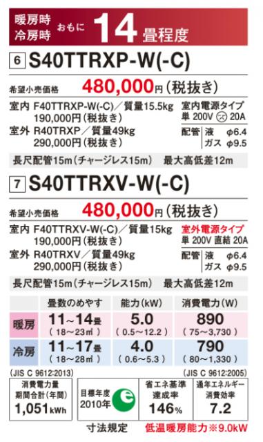 「新・うるさら7 RXシリーズ」 14畳用